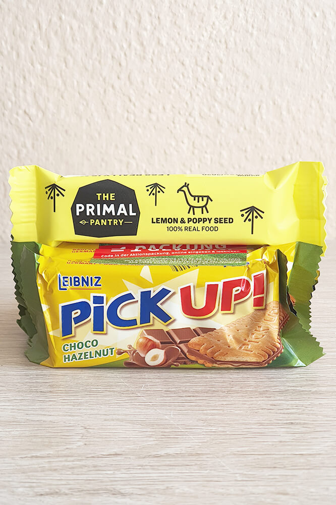 Pick Up und Lemon Paleo-Riegel