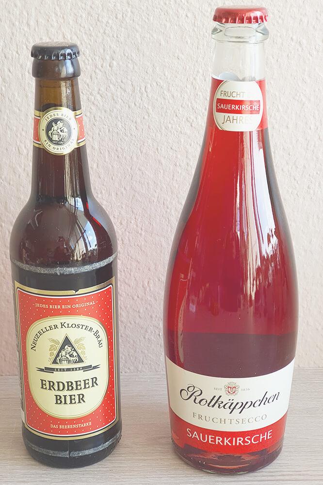Rotkäppchen Sekt Sauerkirsche und Erdbeer Bier