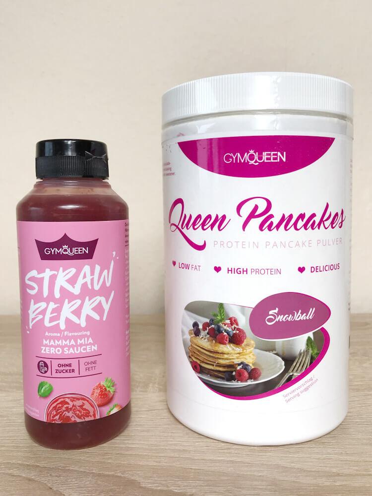 GymQueen Pancake Snowball und Zero Sauce Strawberry
